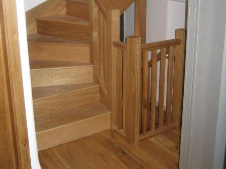 recent project for wooden staircases in newcastle