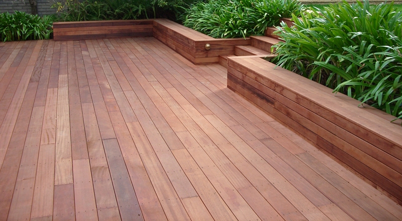 recent project for timber decking in newcastle